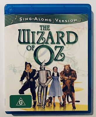 The Wizard Of Oz (Blu-Ray, 2009) VGC Rated G Sing-Along Version 🎶 Family Kids
