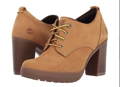 03f9681fb41 WOMENS TIMBERLAND BOOTS Sz 10 Brown Camdale Oxford Wheat Pump Heel Nwob