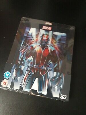 Ant-Man 2D/3D 2 Disc Collectors Blu-ray Steelbook Lenticular Edition. New,sealed