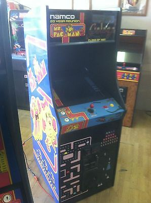 Completey Restored Ms. PacMan/Galaga 20 Year Reunion Arcade , Upgraded 412 Games