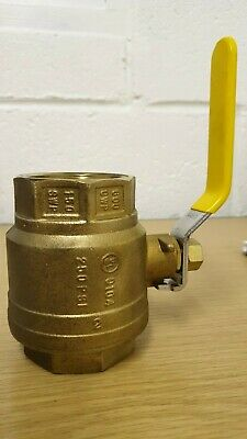 "2"" Forged Brass Full Port Chrome Plated Ball Valve 150SWP 250PIS 600 CWP (UK)"