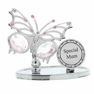 Crystocraft Special Mum Swarovski Elements Butterfly Plaque Mother's Gift Boxed