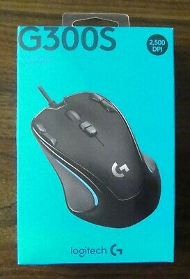 LOGITECH GAMING MOUSE G300s 9 Button Black Backlit Optical Wired USB