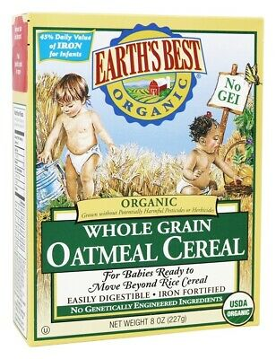 Earth's Best - Organic Whole Grain Oatmeal Cereal - 8 oz.