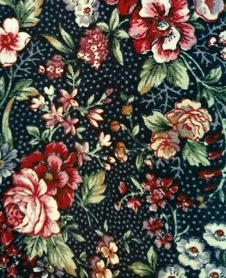 W💗W FABRIC SALE $4 FULL YARD Pink Sage Navy Rose Floral Cotton Sew Quilts Craft