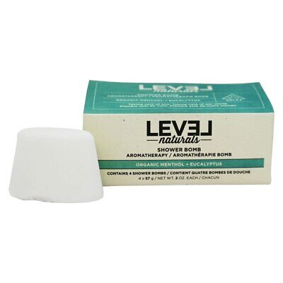 Level Naturals - Shower Bomb Organic Menthol + Lavender