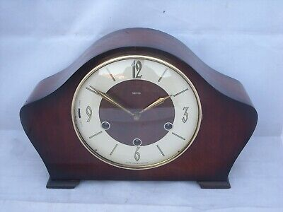 Vintage 8Day Art Deco Smiths Westminster Chimes Mantle Clock, Floating Balance.
