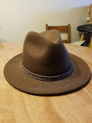 164a3d685d09e Scala Classico Dorfman Pacific 100% Wool Four Seasons Felt Hat Brown Size XL