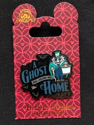 Disney Parks Pin Trading The Haunted Mansion A Ghost Will Follow You Home