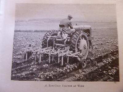 1945 Book On Farming In Britain Tractors Fordson Bamfords Drills Ploughs Photos.