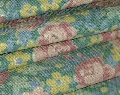 W💞W FABRIC SALE $4 FULL YARD Springs Ind. Pink Yellow Blue Floral Sewing Cotton