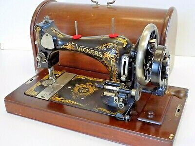 Vickers, Not Singer, Sewing Machine Hand Crank Vintage Antique Collectable Video