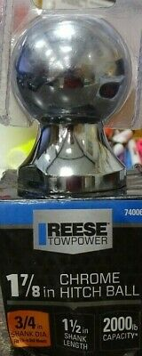 Reese 8309775 Towpower Chrome Plated Steel Standard 1-7/8 in. Trailer Hitch Ball