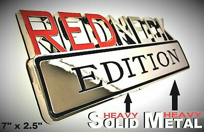 METAL Redneck Edition Logo HIGHEST QUALITY ON EBAY Chevrolet Bumper Trunk Decal