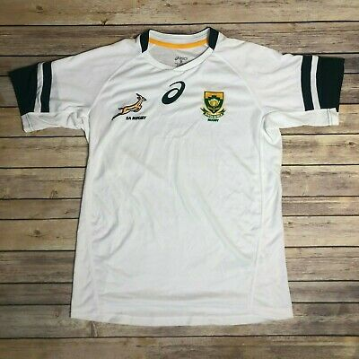 84b0ce8f6 Men ASICS South Africa Rugby Jersey Shirt National Team Size Medium EUC