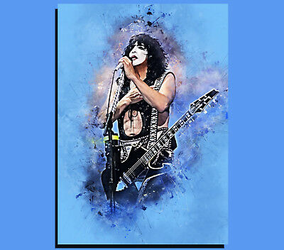Grunge Art 002 Ready To Hang Box Canvas: Eddie Van Halen Various Sizes