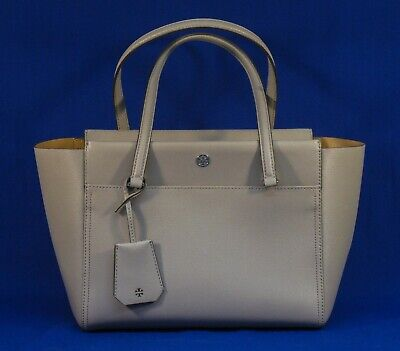 d6476cceb TORY BURCH PARKER LEATHER TOTE SATCHEL DUST STORM / CARDAMOM NWOT b48c ST135