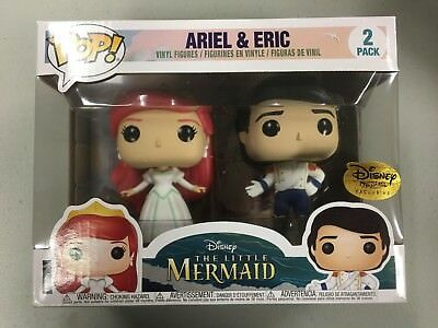 Disney Treasures Ever After Funko Pop Little Mermaid Ariel & Eric New Exclusive