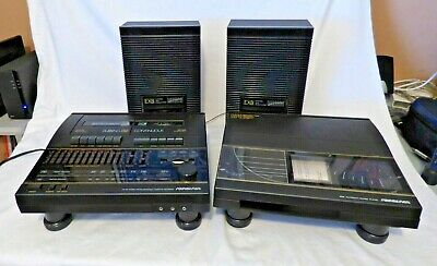Soundesign AM/FM Stereo Receiver Cassette Recorder with Turntable and Speakers