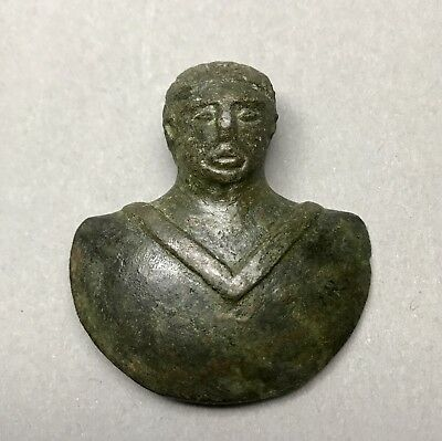 Ancient Roman Bronze Moustache Celt Male Torso In Excellent Condition