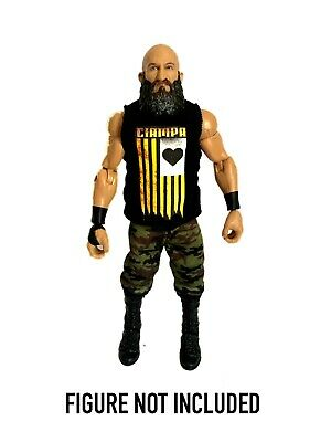 WWE Tommaso Ciampa 'The Blackheart' Custom Shirt For Mattel Figures.