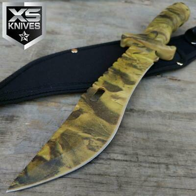 "13"" Military Survival Fixed Blade Camo Tactical Combat Bowie Hunting Knife"