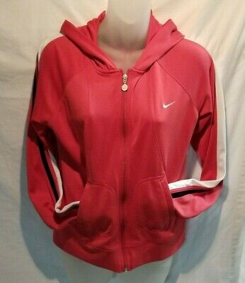 Nike Hoodie Girls Pink M 8-10  Full Zip Jacket Sportswear Tween