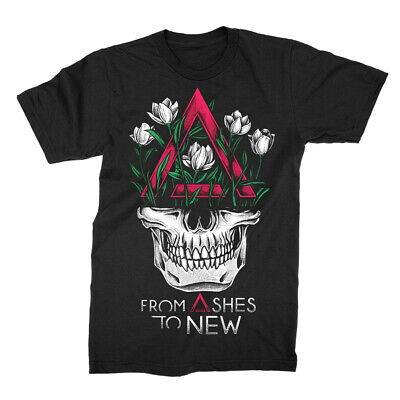Authentic FROM ASHES TO NEW Face Logo Slim-Fit T-Shirt S M L XL 2XL NEW