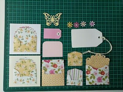 Die Cut mini pockets/envelopes/cards great for journaling,yellow butterfly