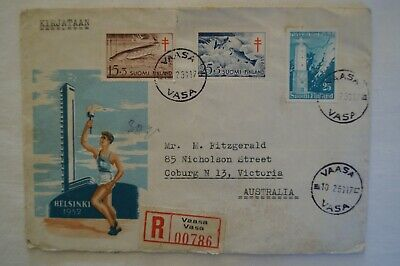 Olympic Games Collectable 1952 Helsinki Finland Vintage Souvenir Day Cover