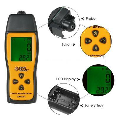 SMART SENSOR LCD Carbon Monoxide Meter Detector CO Gas Tester Monitor Tool C7