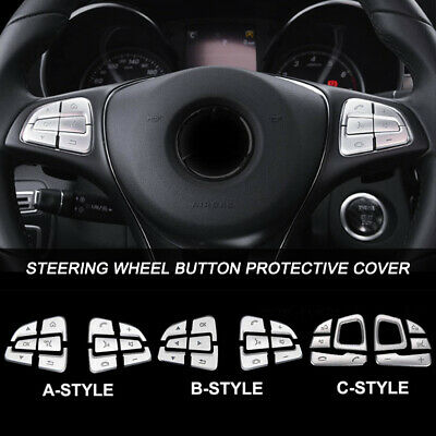 1Set Steering Wheel Button Cover Trim for MercedesBenz GLE GLS A B GLA CLS Class