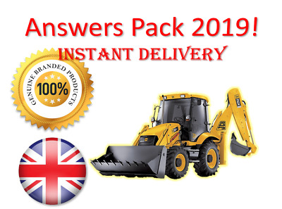 2019 CPCS A12 Excavator 180 above 5 tonnes Theory Test Answers | BOOK + PDF