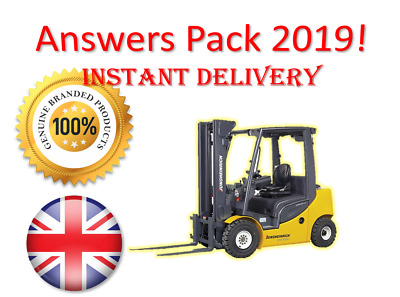 2019 CPCS A16 Industrial Forklift Truck Theory Test Answers PACK | BOOK + PDF