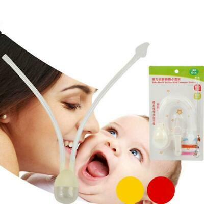 Newborn Infant Baby Nasal Aspirator Safety Hygienic Nose Snot Clean Cleaner Tool