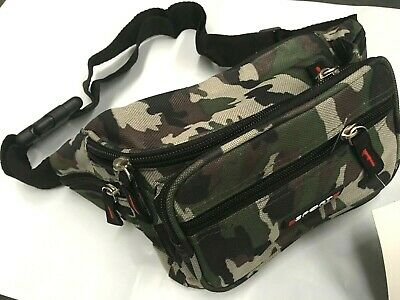 Military Green Waist Pouch Bum Bag Polyester Camouflage Travel Hiking bag NEW p2