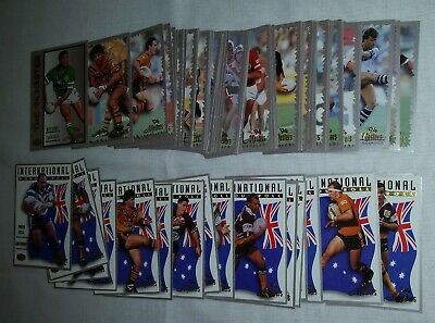 1994 NRL/ARL Masters lot of Rugby League cards #1 - #99 Players & Internationals