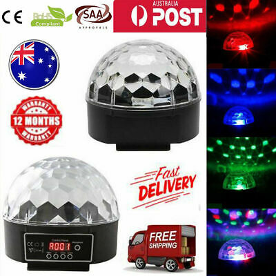 Disco Party DJ LED RGB Stage Effect Light Lamp Laser Crystal Magic Ball DMX512