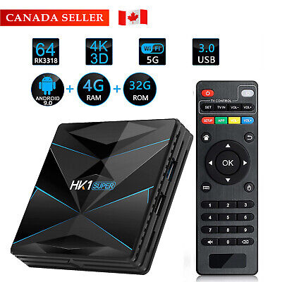 HK1 Play 3D Smart TV Box Android 9.0 S905X2 Quad Core 4+32G Media Player CA