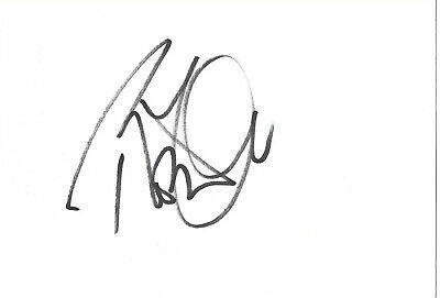 """Robert Plant """"Led Zeppelin"""" signed 4x6 inch white card autograph"""