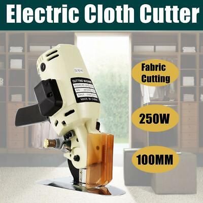 "4"" 250W Electric Cloth Cutter Leather Fabric Rotary Round Scissors Machine 110V"
