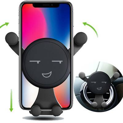 Car Phone Holder Air Vent Emoji Gravity Mount Stand for iPhone Samsung Huawei