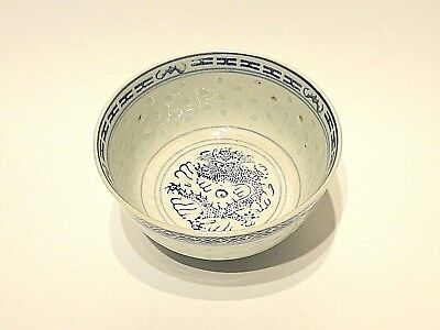 Cuenco Chinese Porcelain Cup Bowl Rice Grain Marked