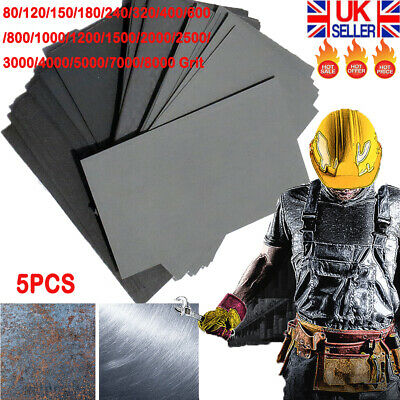 5PCS WET AND DRY SANDPAPER Sand Paper 80 - 8000 GRIT KLINGSPOR Mixed Grits