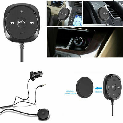 AUX MP3 Player Car Bluetooth Audio Music Receiver Kit 3.5mm Adapter USB Charger