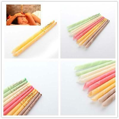 10Pcs Earwax Candles Hollow Blend Cones Beeswax Ear Cleaning Massage Treatm  $TC