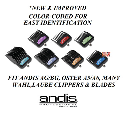 ANDIS Premium METAL CLIP BLADE GUIDE ATTACHMENT COMB FitMany Oster,Wahl Clipper