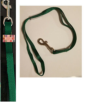 PET Dog Cat NYLON RESTRAINT Noose LOOP w/Clip for Grooming Table Arm Bath GREEN