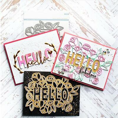 Hello Mold Scrapbooking Valentine Metal Cutting Dies Embossing Craft Die DIY