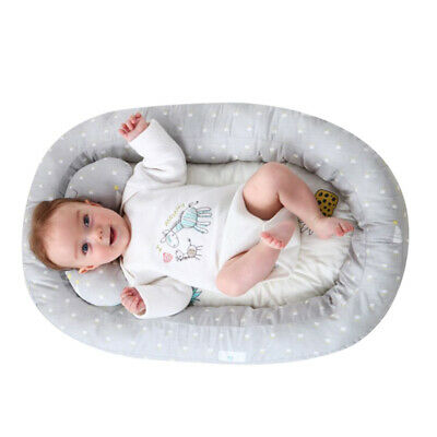 Portable Newborn Baby Bassinet Bed Soft Lounger Crib Sleep Nest With Pillow AU